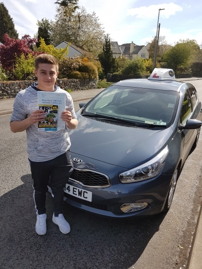 A big well done to Conor who passed his test today Congratulations and enjoy your new freedom Thanks for choosing Drive to Arrive