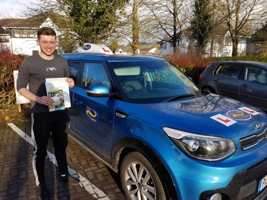 A massive well done to Dylan who passed his test today first time. A great start to the new year. Enjoy driving and thanks for choosing Drive to Arrive.