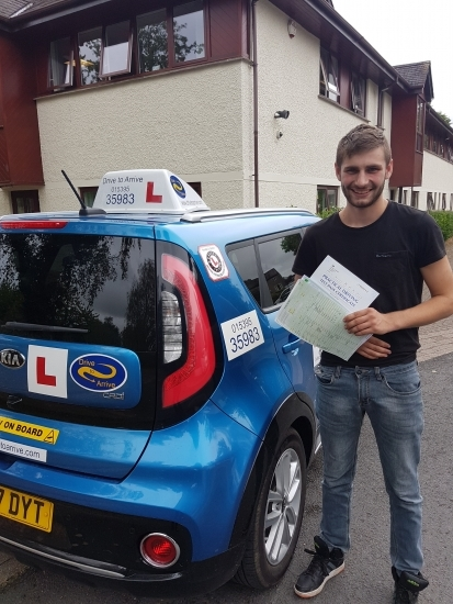 A huge well done to Joe for passing his test today, first time. Congratulations. Enjoy driving in your car and thanks for choosing Drive to Arrive.