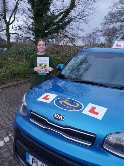 A big well done to Josie for passing her test today first time. Excellently timed before Christmas. Congratulations and safe driving. Thanks for choosing Drive to Arrive.