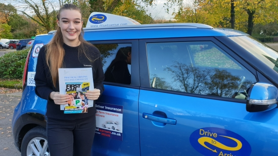 A big well done to Sophie who passed her test today with a great drive. Congratulations and stay safe. Thanks for choosing Drive to Arrive.