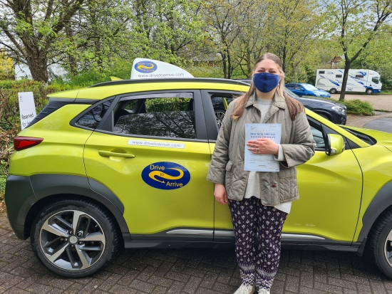 A big well done to Stephanie who passed her test first time. She has several years experience on a USA licence in the states, but now has her UK licence too. Congratulations, enjoy visiting everywhere you want to go and thanks for choosing Drive to Arrive.