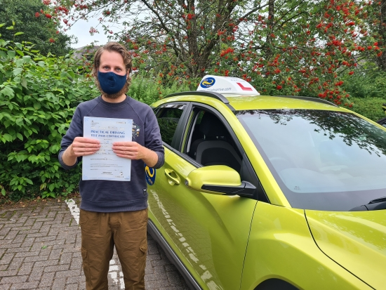 A big congratulations to Niall for passing his test today, first time with a great drive. Enjoy your new freedom and hope it helps with your future business aspirations. Stay safe and thanks for choosing Drive to Arrive.