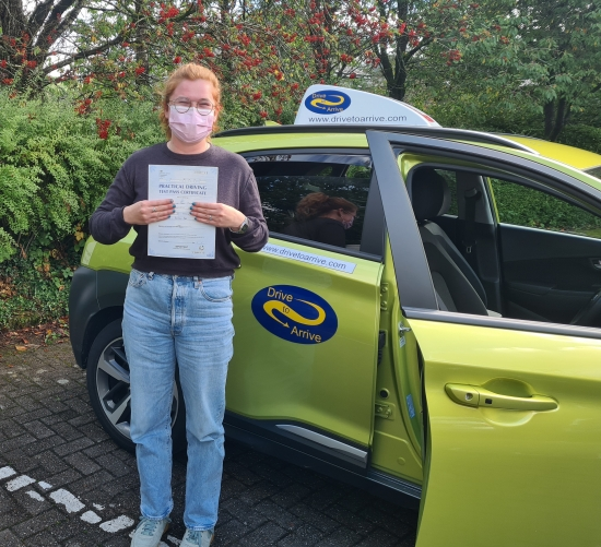 A big well done to Caroline for passing her test today. Enjoy your new freedom and good luck with your new job! Thanks for choosing Drive to Arrive.