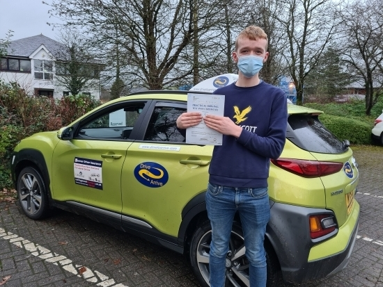 A massive congratulations to Matt for passing his test today first time with a clean sheet of no faults! Stay safe, enjoy your new freedom and thanks for choosing Drive to Arrive.