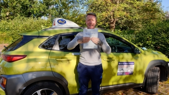 A big well done to Dave who passed his test today first time. Dave passed in a manual today after passing his test in an automatic 6 years ago with Drive to Arrive. Congratulations and good luck with your C1. Thanks for choosing Drive to Arrive again!