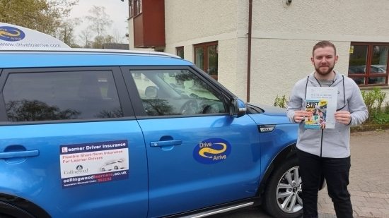 A big well done to Jamie who passed his test today first time. Congratulations and safe driving. Enjoy celebrating today. Thanks for choosing Drive to Arrive.