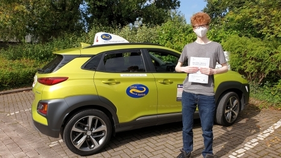 Congratulations to Ellis for passing his test today first time with a great drive! Stay safe and thanks for choosing Drive to Arrive.