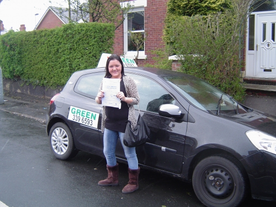 Yea Yea I did it Thank you Sean Everyone go to the Green School of Motoring I did it ThanksXX