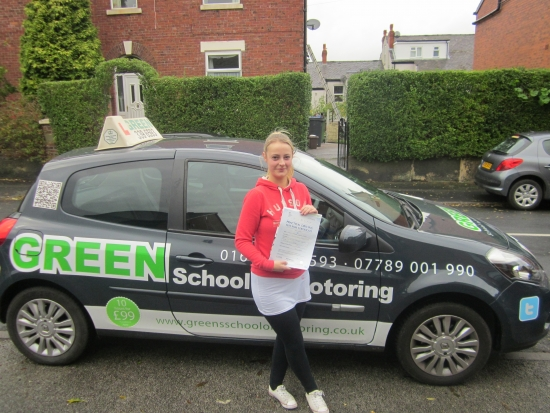 25102014<br /> <br /> Well Done Chelsea a first time pass with only 5 minors<br /> <br /> Drive Safely
