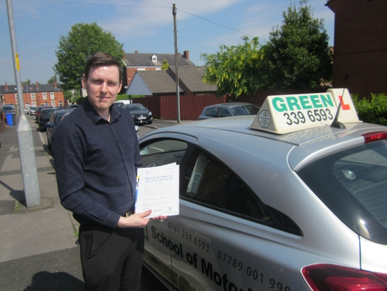 Congratulations to Charles Stoke who passed his test today with ZERO FAULTS<br />