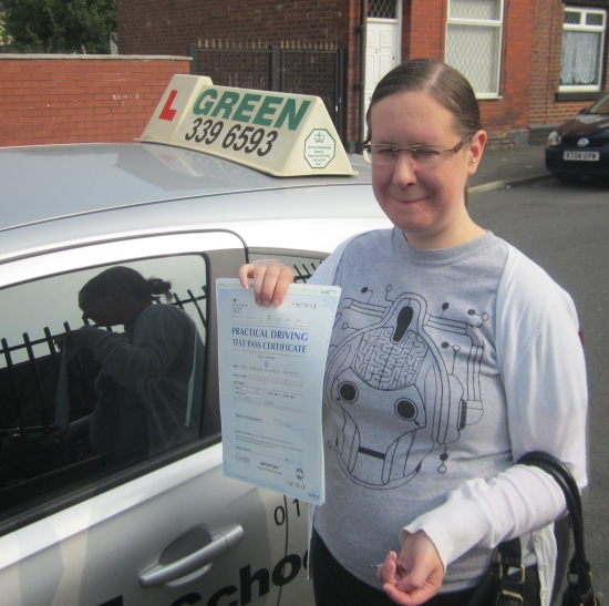 Well Done Margaret a first time pass with only 1 minor fault<br />