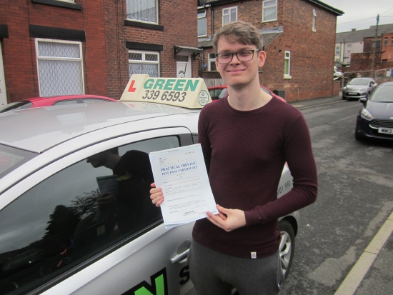 Well Done to Joseph Fletcher, a first time pass today with just 4 minors. Poor Joseph was under pressure because his wife Kelsey passed first time a few weeks ago.<br />