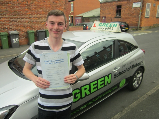 9102015<br /> <br /> Well done to Josh Turner who passed his test today first time with 3 minors you did very well on the Hattersley roundabout Josh<br /> <br /> He asked me to sit in the back during the test so I was able to see how well he dealt with the unexpected traffic queuing on the roundabout<br /> <br /> Well Done