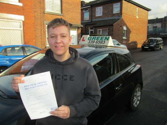 15/11/2019<br /> Congratulations to Jake Sykes who passed his test today with just 3 minors, apparently he actually got 2 minors but the examiner thinks he may have accidentally caught his ipad giving him an extra one.<br /> Well done Jake.<br /> Drive Safely.