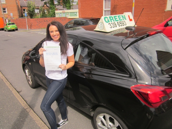 20/08/2019<br /> Congratulations to Sarah Knight who passed her driving test with just 1 fault. Well Done Sarah. Drive Safely.