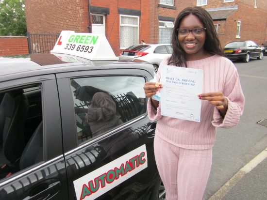 Congratulations to Raquell Djalo who finally passed her test with just 4 minors. Raquell was one of the unfortunate ones who´s test was cancelled in March because of Covid.<br />