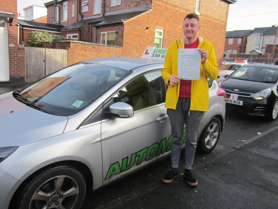 Renown children´s author Peter Jarvis passed his test with just 1 minor today.<br />