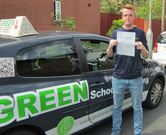 Well done Simon Passed first time with just 1 minor<br />
