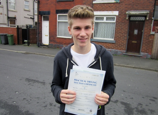 Well Done Jamie Jamie worked hard and passed first time<br />