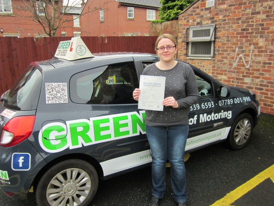 Well Done Lucy remember you are a safe driver stay that way<br /> <br /> Keep a eye on my face book pages for help with winter driving and other useful information<br /> <br /> With Christmas coming remember None for the Road Donacute;t drink and drive