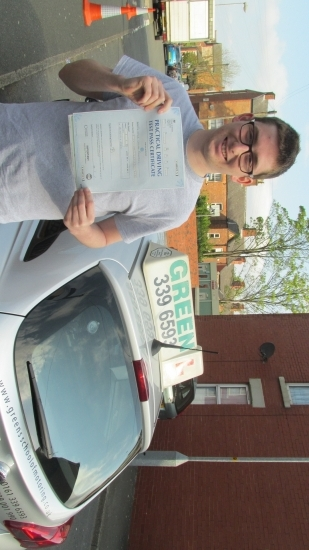 13052016<br /> <br /> Well done Jack a first time pass and ZERO faults Canacute;t get any better than that
