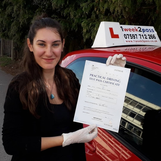 Tiffany was the 2nd 1st time pass in a day for our driving school