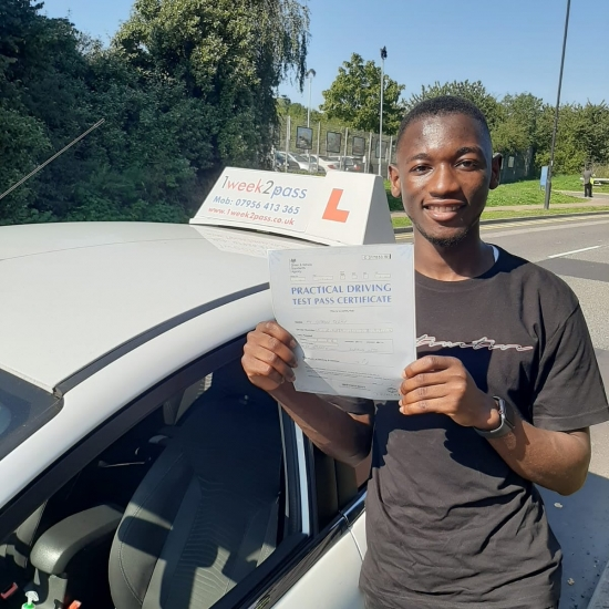 David is another 1st time pass for our driving school