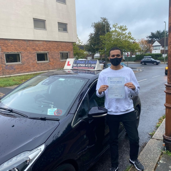 Awad left a review on Google for our driving school 'I´m so happy I passed this morning. I had Michael as my instructor. Very friendly but also strict and was always on my case, which makes sure you don´t make even the minor mistakes. Very thorough and knowlegdable'