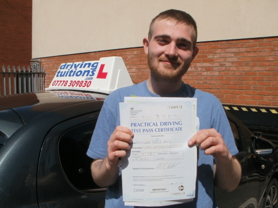 Great Driving Instructor Passed first time and would recommend him to anyone From Alex Craig