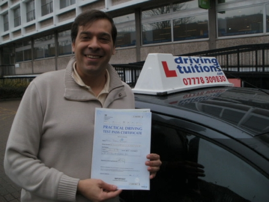 Franco has been fantastic He explains concepts very clearly and has a great attitude He quickly picked up the areas I had to focus on which allowed me to make good progress in a short time frame Thanks to Franco I passed the exam first time I highly recommend him to anyone serious about passing the driving test successfully