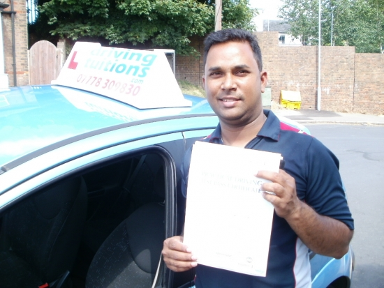 Franco Thank You You are very professional patient and made me believe in myself Thank you very much I passed my test in just one month I would recommend Franco for people who need to pass first time