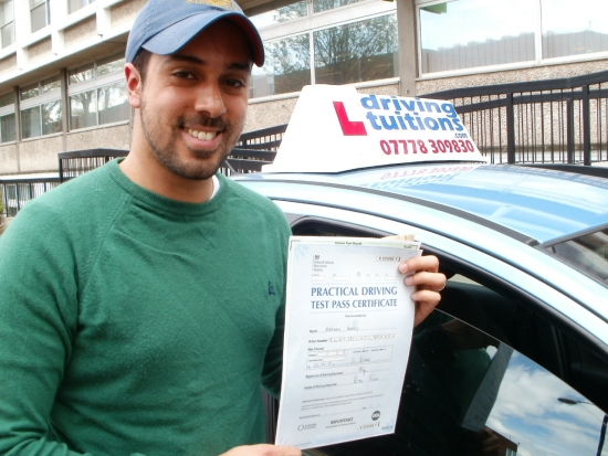 Franco… thank you for your patience professionalism and help I passed my test today without any single driving fault I recommend Franco for who wants to pass with confidence and accuracy