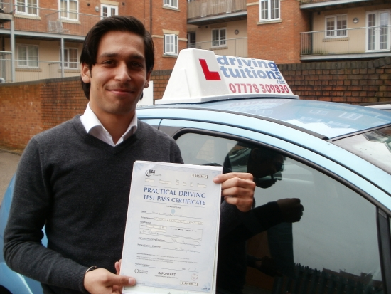 Franco is an excellent driving instructor He will put you at ease and he will teach you the skills to become a safe and confident driver I will highly recommend him It was my first attempt today and thanks to Franco I passed my driving test