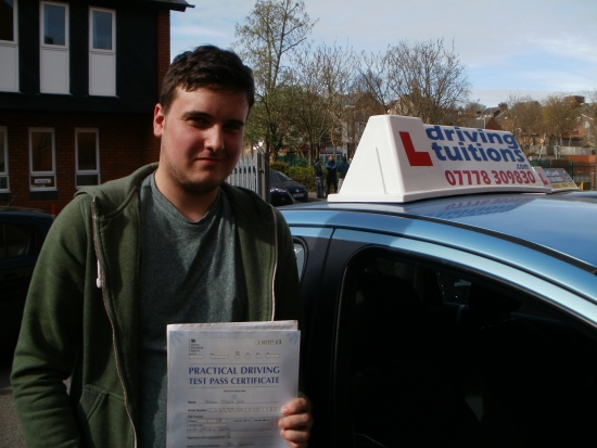 Franco is an excellent instructor who made me feel relaxed and comfortable in the car<br />