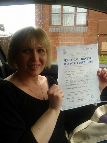 Passed first time : thank you julie for all your help and patience i would never have done this without you i can recommend you to any body wanting to learn to drive always friendly always patient and knew how to put me at ease so pleased thank you : xxx