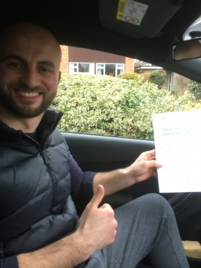 I would recommend Simon and GO 4 IT Driving School. I passed 1st time. The car is easy to drive and Simon is a brilliant driving instructor. Thank you for all your help. I now have a new car and can drive anywhere.