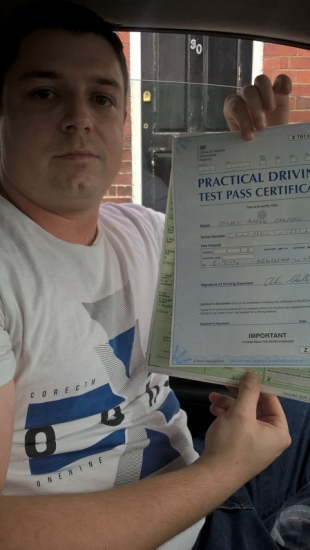 Stuart Campbell passed on 6917 with Peter Cartwright Well done