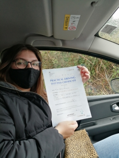 Katie passed on 7/5/21 with Peter Cartwright! Well done?