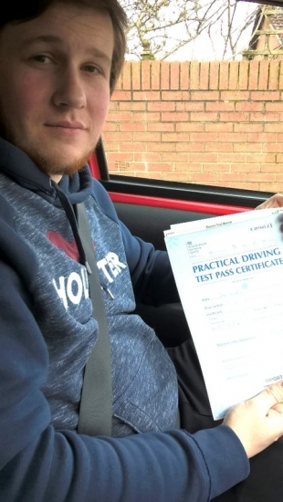 Jake passed with Peter Cartwright on 29318 Well done