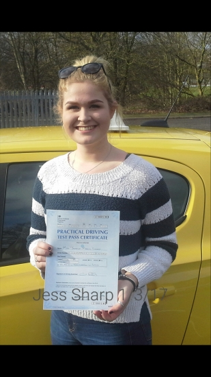 Jess passed on 1317 with Garry Arrowsmith Well done