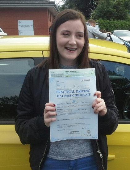 Carly Seaton passed on 25717 with Garry Arrowsmith Well done <br />