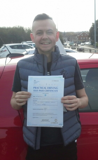 Daniel Brian passed on 311017 with Garry Arrowsmith <br />