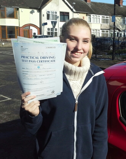 Joanne Brigham passed on 27218 with Garry Arrowsmith Well done