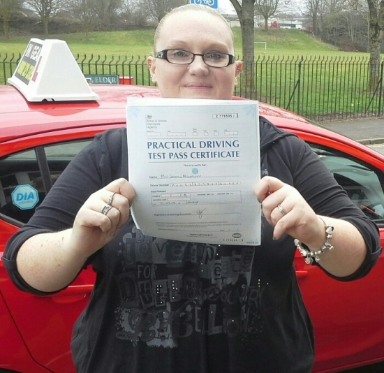 Gemma Moorehouse passed on 22318 with Garry Arrowsmith Well done<br />
