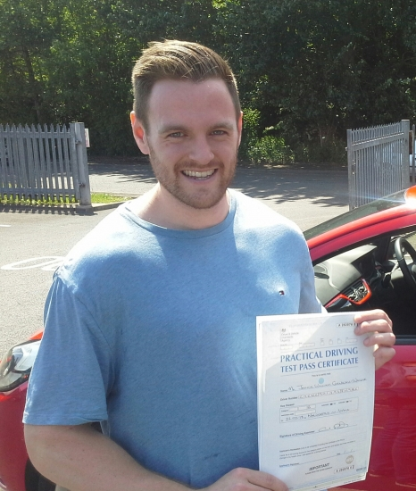 Joshua Cornwall Walker passed on 22518 with Garry Arrowsmith Well done