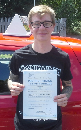 Sam Shutt passed on 14/6/18 with Garry Arrowsmith! Well done!