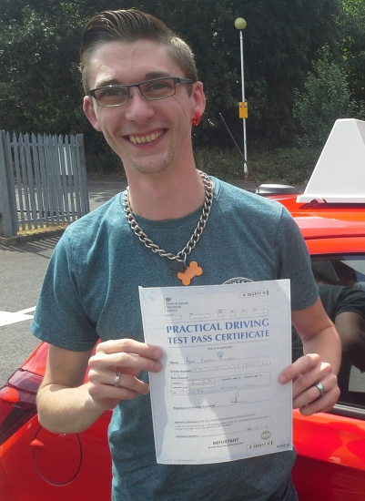 Adam Pritchard passed on 19/7/18 with Garry Arrowsmith! Well done!<br /> <br /> <br /> Adam says