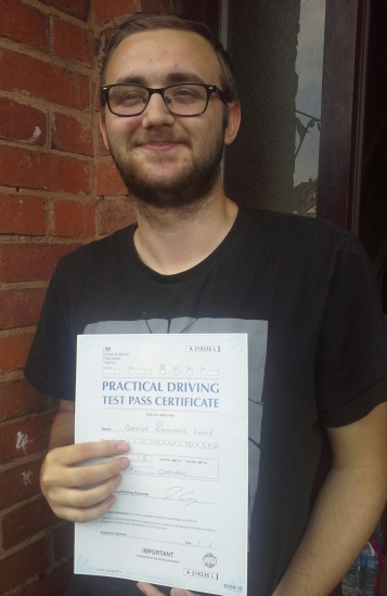 George passed on 3/7/18 with Garry Arrowsmith! Well done!