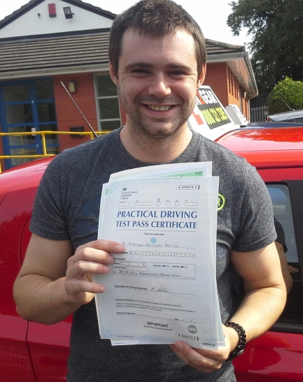 John passed on 29/8/18 with Garry Arrowsmith! Well done!